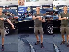 NYPD Thug Cop Loses It — Pulls Gun On Cyclists, Causing School Lock Down