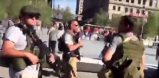 VIDEO: Armed Men Parade Outside Republican Convention