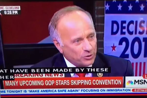 US Rep. Steve King Preaches White Supremacy On National Television