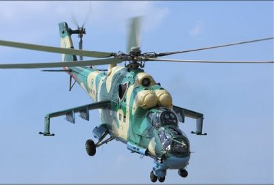 Nigerian Air Force Helicopter Destroys New Boko Haram Camp