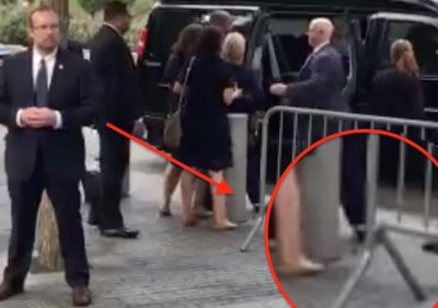 Watch: Hillary Clinton Collapses During 9/11 Memorial