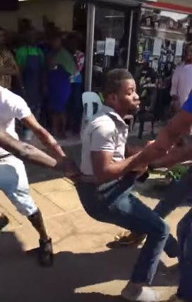 Watch: South African Police Officers Violently Assault Nigerian Man