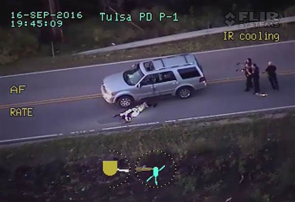 The Race War Continues: Chopper Footage Shows Tulsa Cops Executing Unarmed Black Man