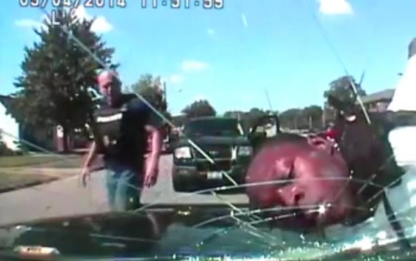 Disturbing: Thug Cops Shatter Windshield With Man's Face