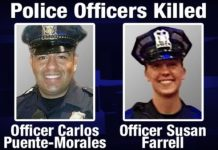 Two Cops Executed By White Thug In Iowa - Blue Lies Matter Silent