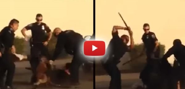 Graphic Video Shows Cops Cops Savagely Beating A Man As Their Dog Tear Him Apart