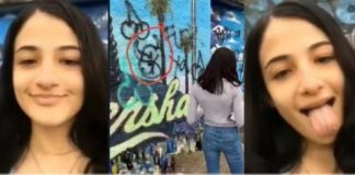 Nipsey Hussle Mural Defaced By Demented White Female